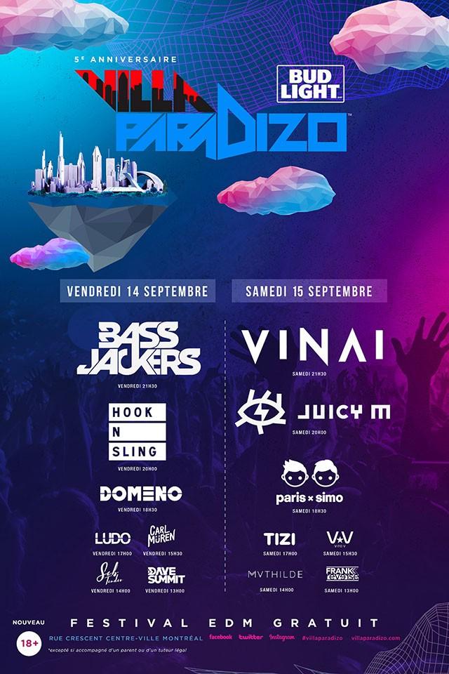 Villa Paradizo - schedule 2018